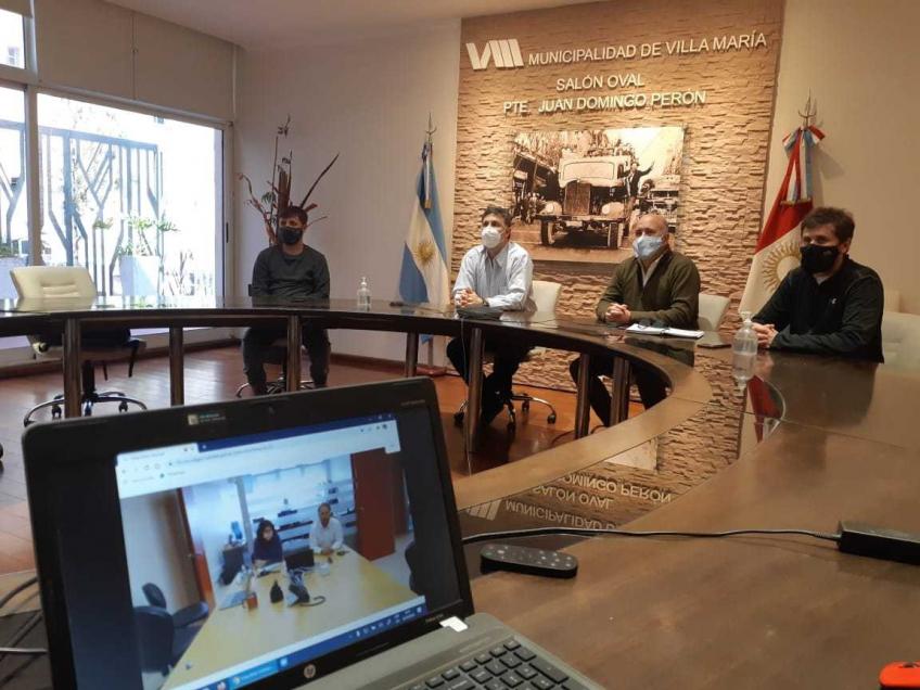 Villa María: Rosso se reunió con referentes técnicos de Vialidad Nacional para definir detalles técnicos de la variante de paso de ruta nacional 158
